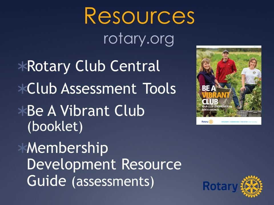 Resources  Vibrant Club Assessment  Club Self Assessment