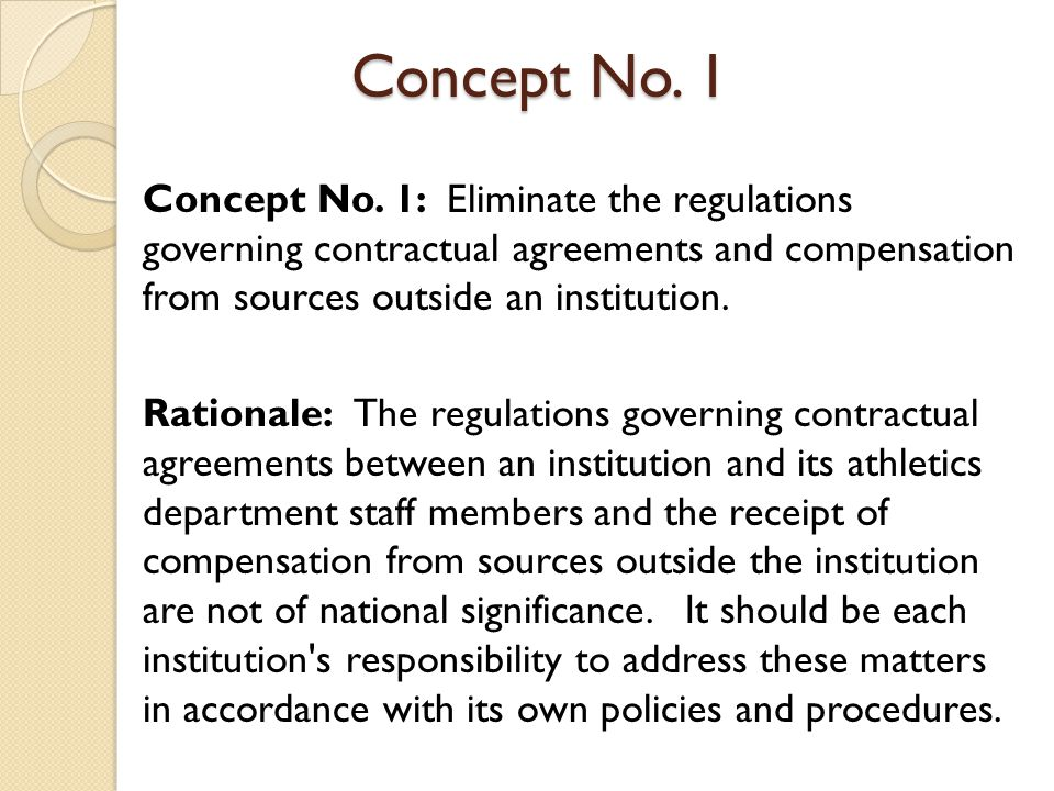 Concept No.1 Points to Consider: Reduces administrative burden for compliance staff.