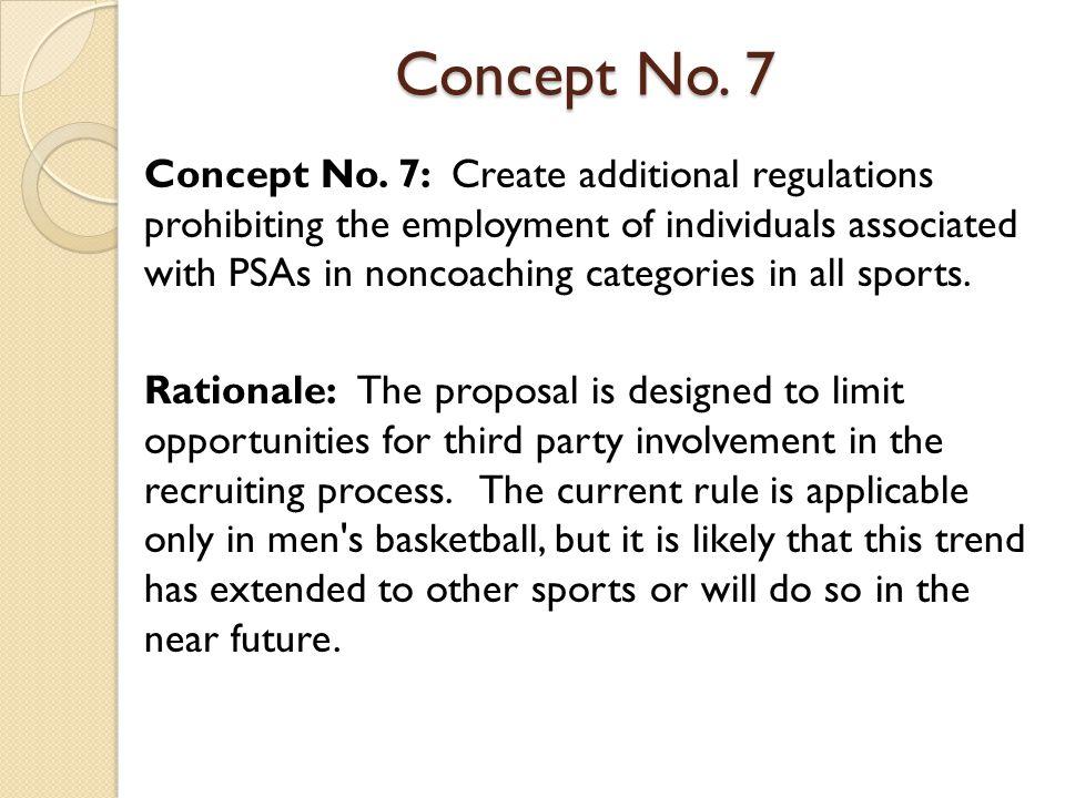 Concept No. 7 Concept No.