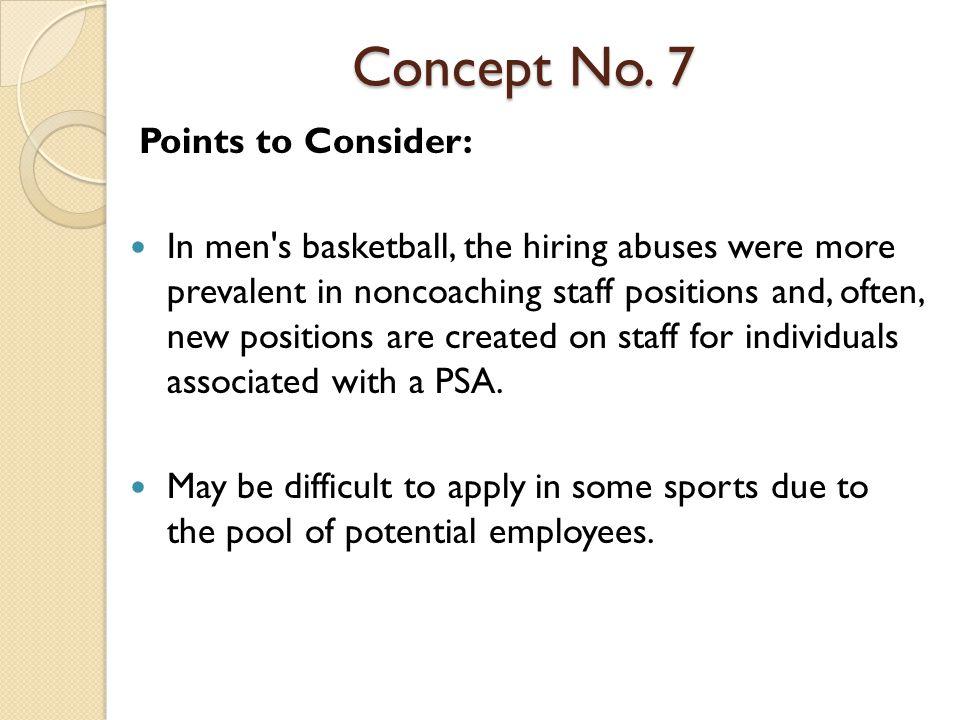Concept No.7 Questions: 1.