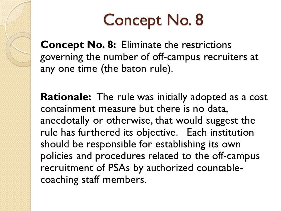 Concept No. 8 Concept No.