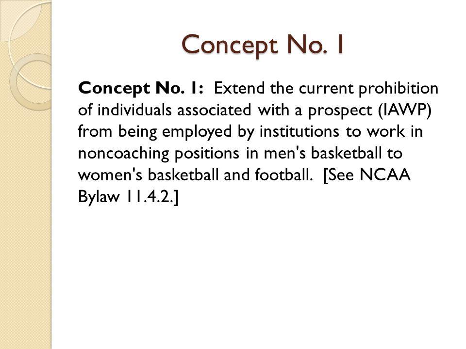 Concept No. 1 Concept No.