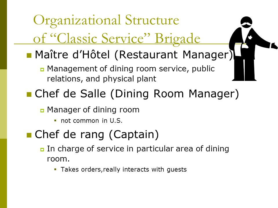 Dining Room Service Personnel Sets Attendant Definition