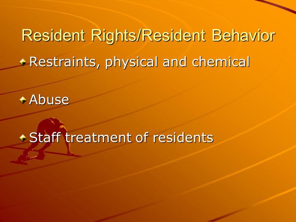 Ethical behavior of a certified nurse assistant / For resident care Keep personal information confidential Respect each person as an individual Give care based on need, not gratuities Recognize limitations of role as CNA
