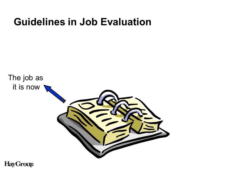 Guidelines in Job Evaluation The job as it is now