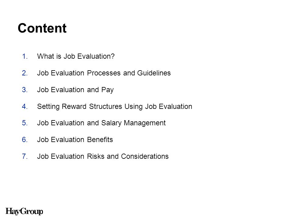What is Job Evaluation?