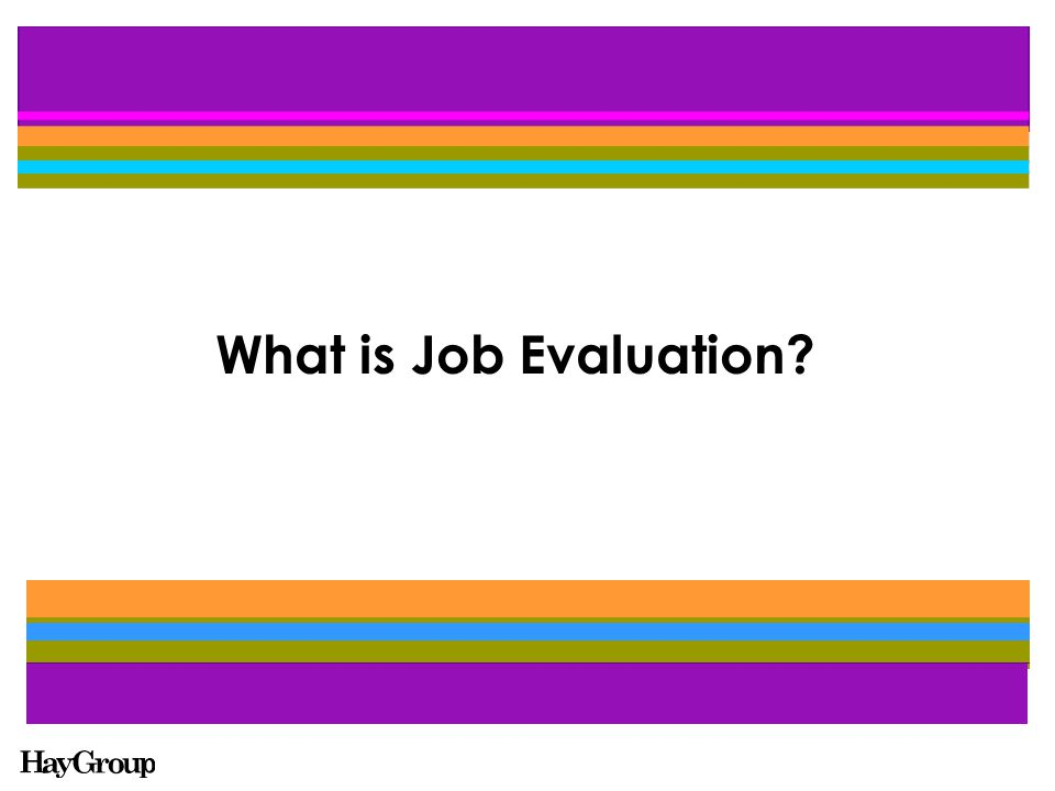 Job Evaluation is a systematic process for ranking or rating jobs logically and fairly by comparing job against job or against a pre-determined scale to determine the relative importance of jobs to an organisation.