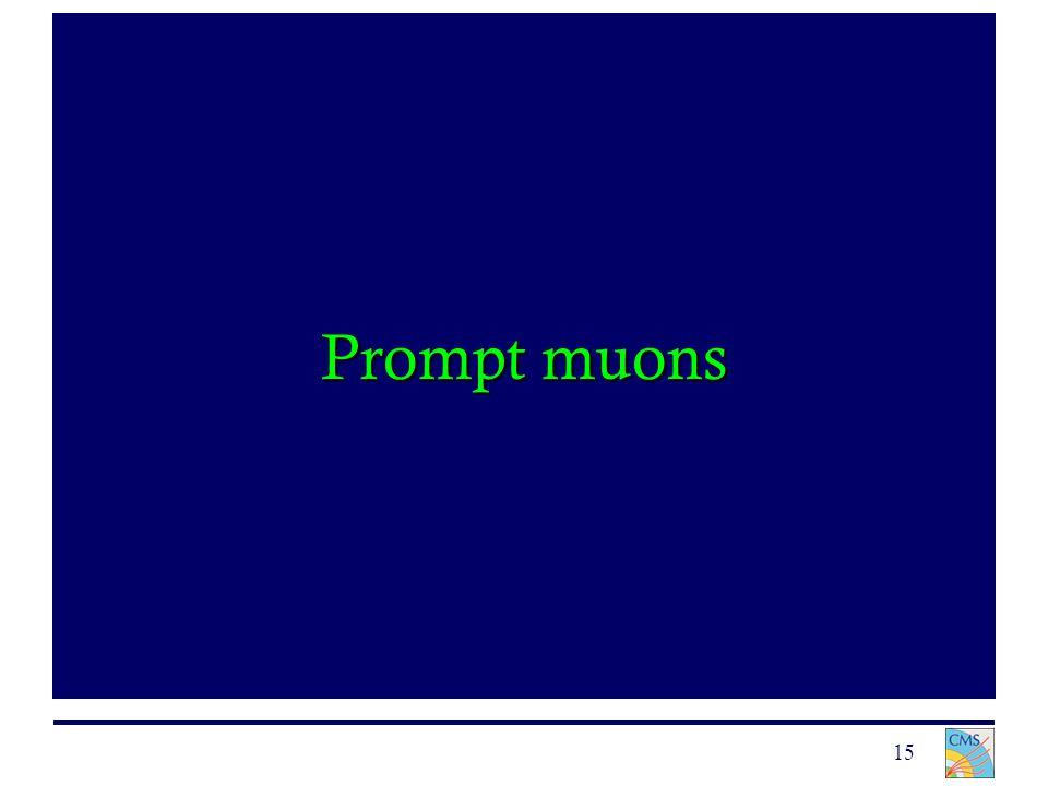 15 Prompt muons