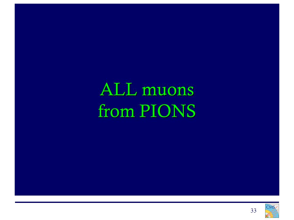 33 ALL muons from PIONS