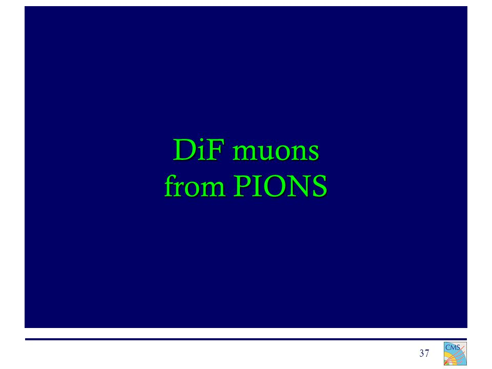 37 DiF muons from PIONS