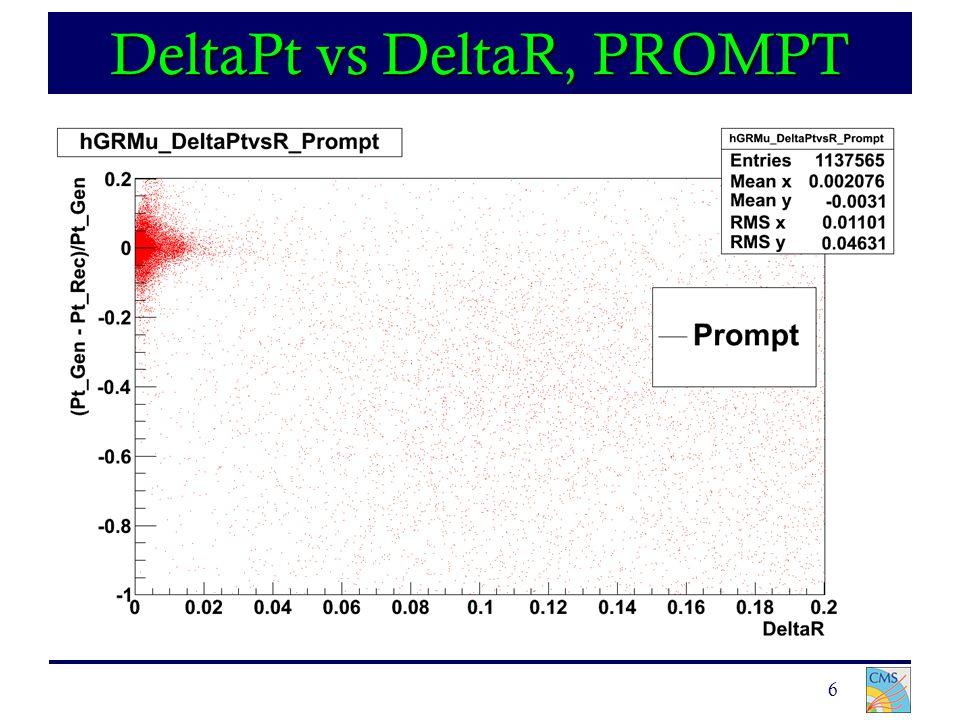 6 DeltaPt vs DeltaR, PROMPT