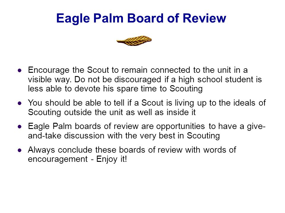 Encourage the Scout to remain connected to the unit in a visible way. Do not be discouraged if a high school student is less able to devote his spare