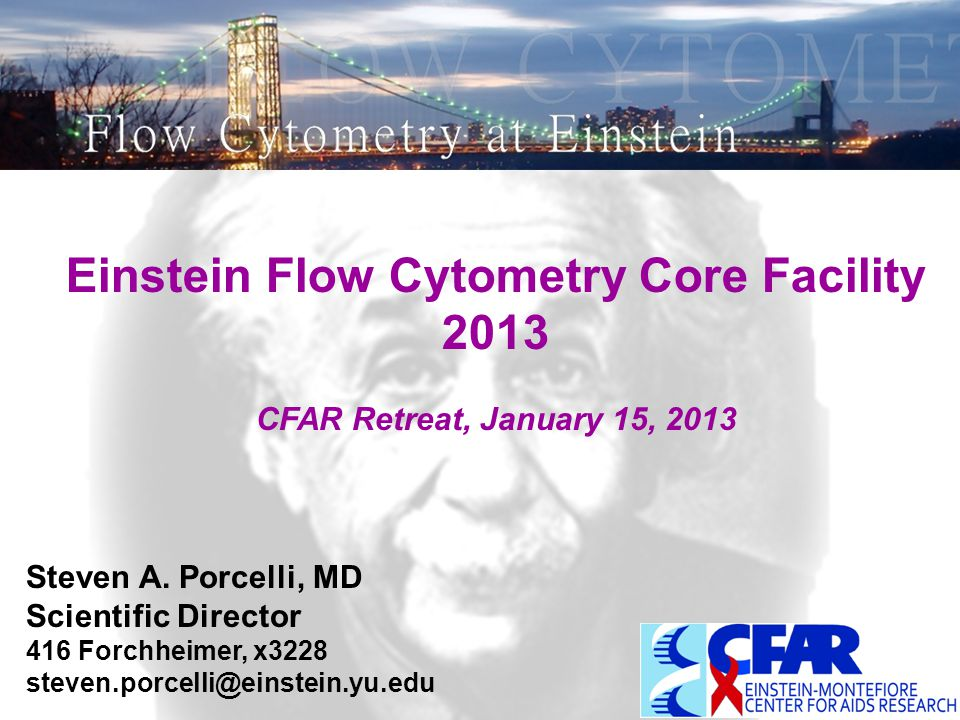 Einstein Flow Cytometry Core Facility 2013 CFAR Retreat, January 15, 2013 Steven A.