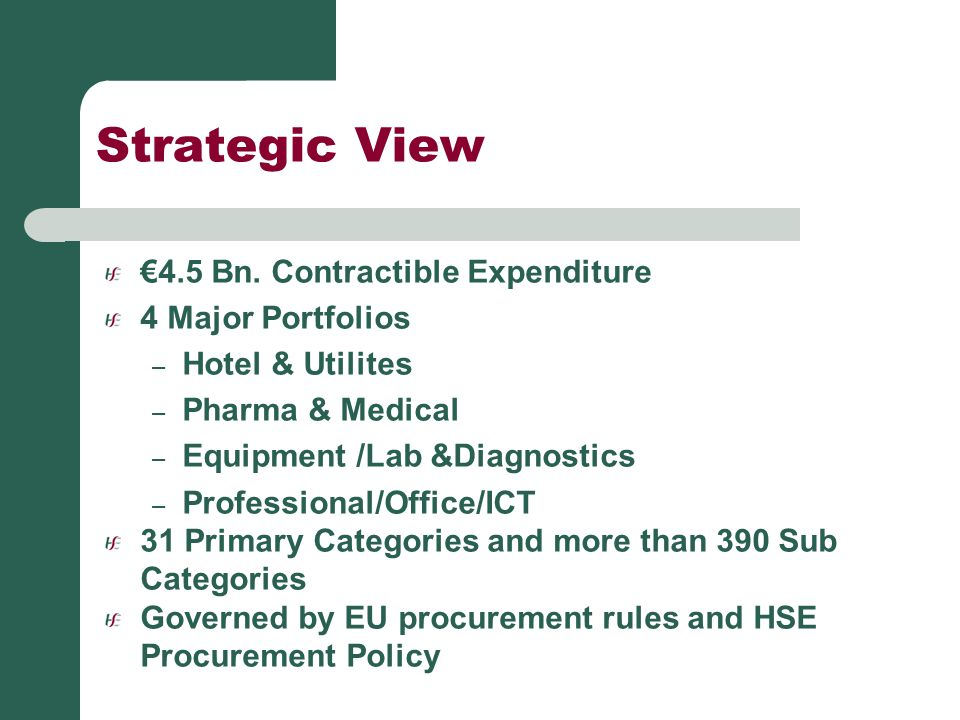 Conclusion Thank You for your attention Come visit HSE Procurement Stand for further information