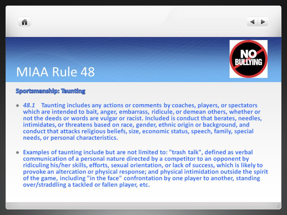 MIAA Rule 48