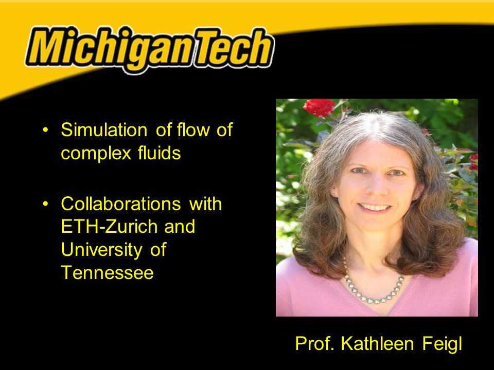 Simulation of flow of complex fluids Collaborations with ETH-Zurich and University of Tennessee Prof.
