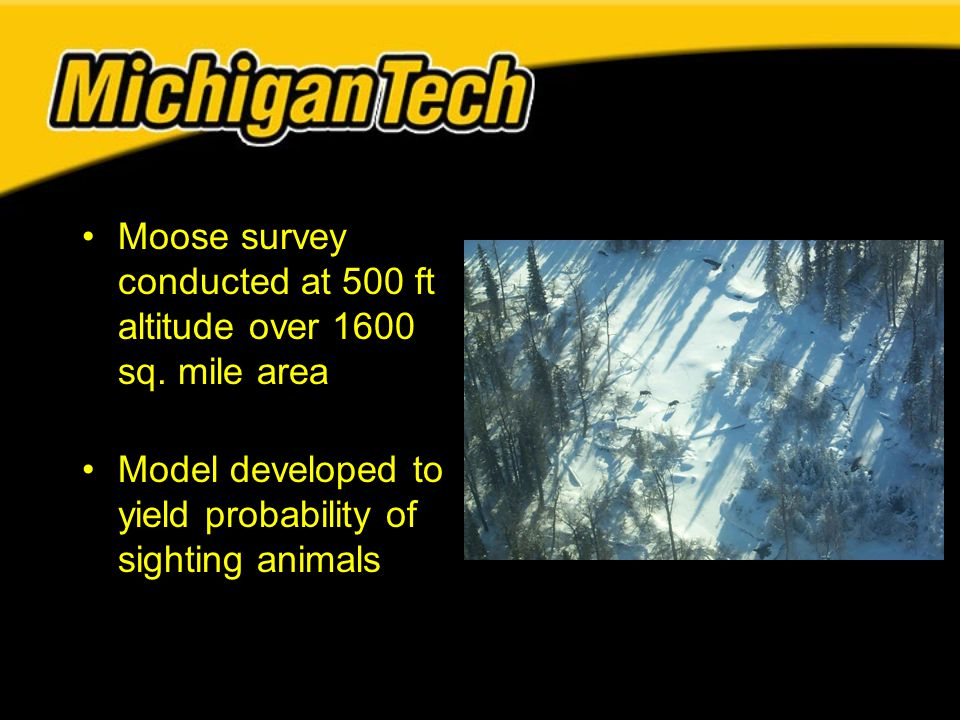 Moose survey conducted at 500 ft altitude over 1600 sq.