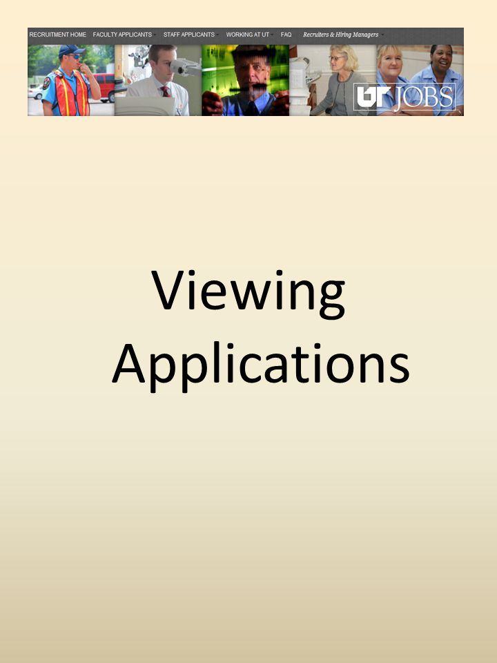 Viewing Applications