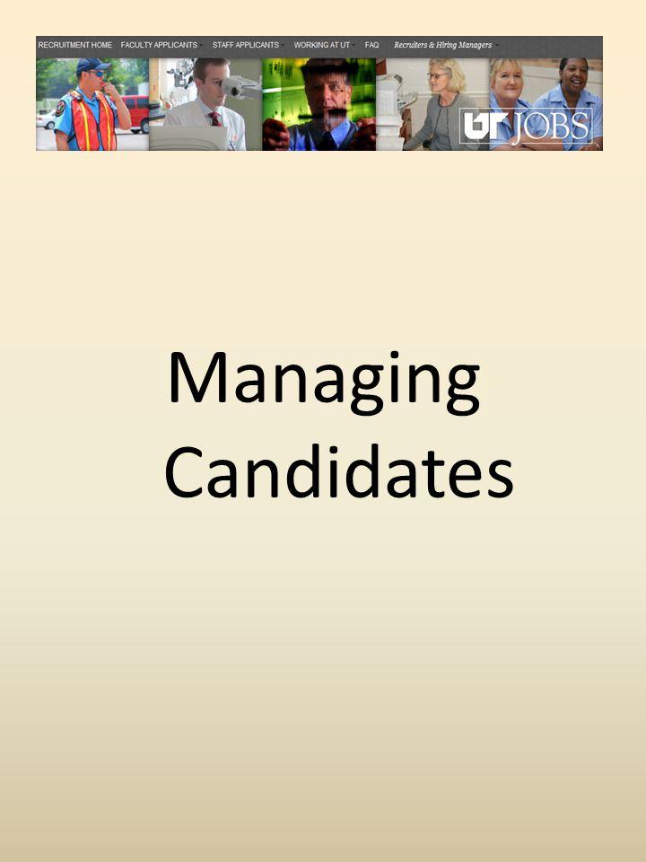 Managing Candidates