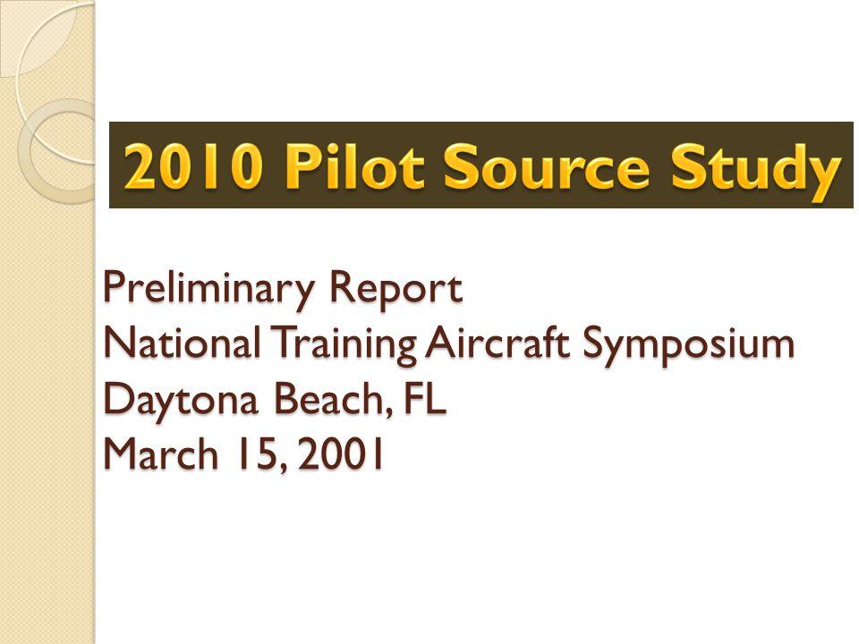 Preliminary Report National Training Aircraft Symposium Daytona Beach, FL March 15, 2001