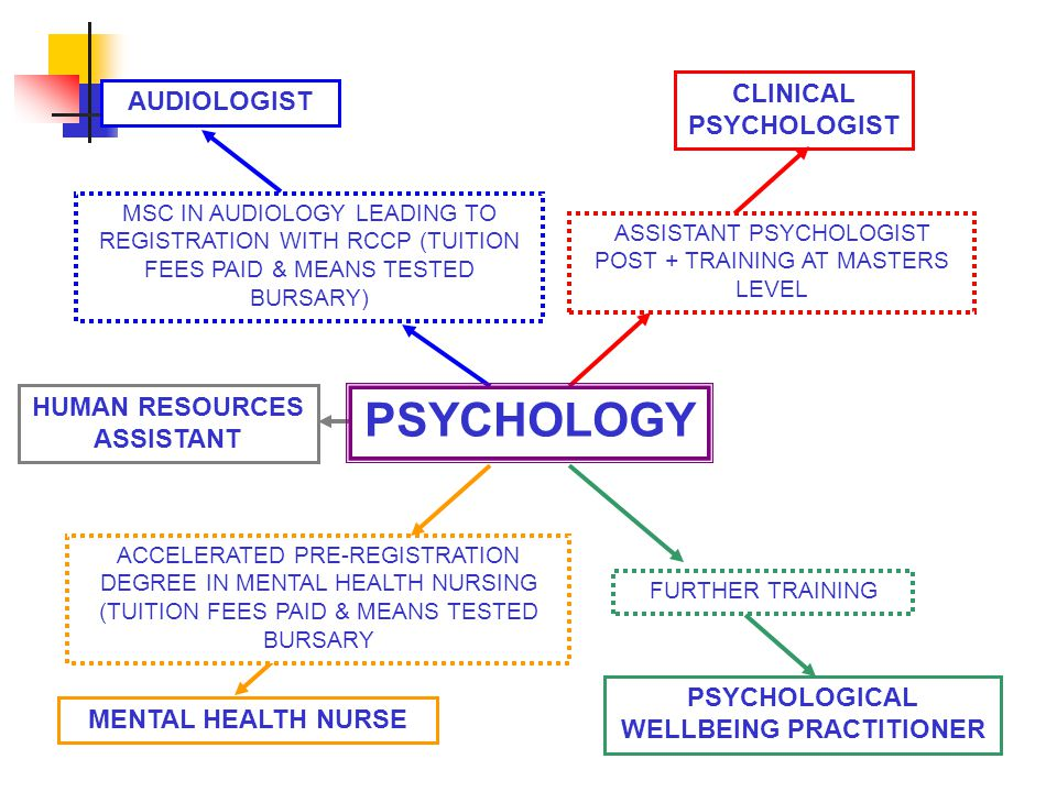 MSC IN AUDIOLOGY LEADING TO REGISTRATION WITH RCCP (TUITION FEES PAID & MEANS TESTED BURSARY) AUDIOLOGIST ASSISTANT PSYCHOLOGIST POST + TRAINING AT MASTERS LEVEL CLINICAL PSYCHOLOGIST FURTHER TRAINING PSYCHOLOGICAL WELLBEING PRACTITIONER MENTAL HEALTH NURSE ACCELERATED PRE-REGISTRATION DEGREE IN MENTAL HEALTH NURSING (TUITION FEES PAID & MEANS TESTED BURSARY HUMAN RESOURCES ASSISTANT PSYCHOLOGY