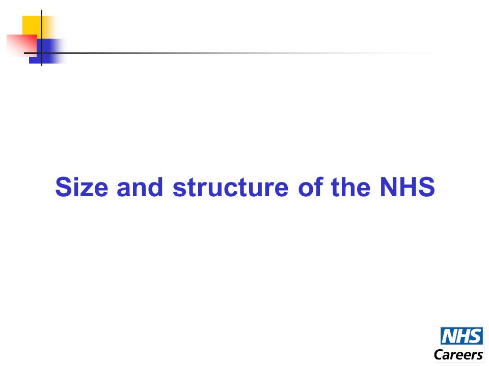 Size and structure of the NHS