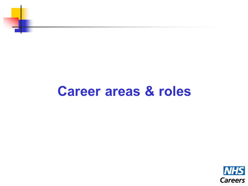 Career areas & roles