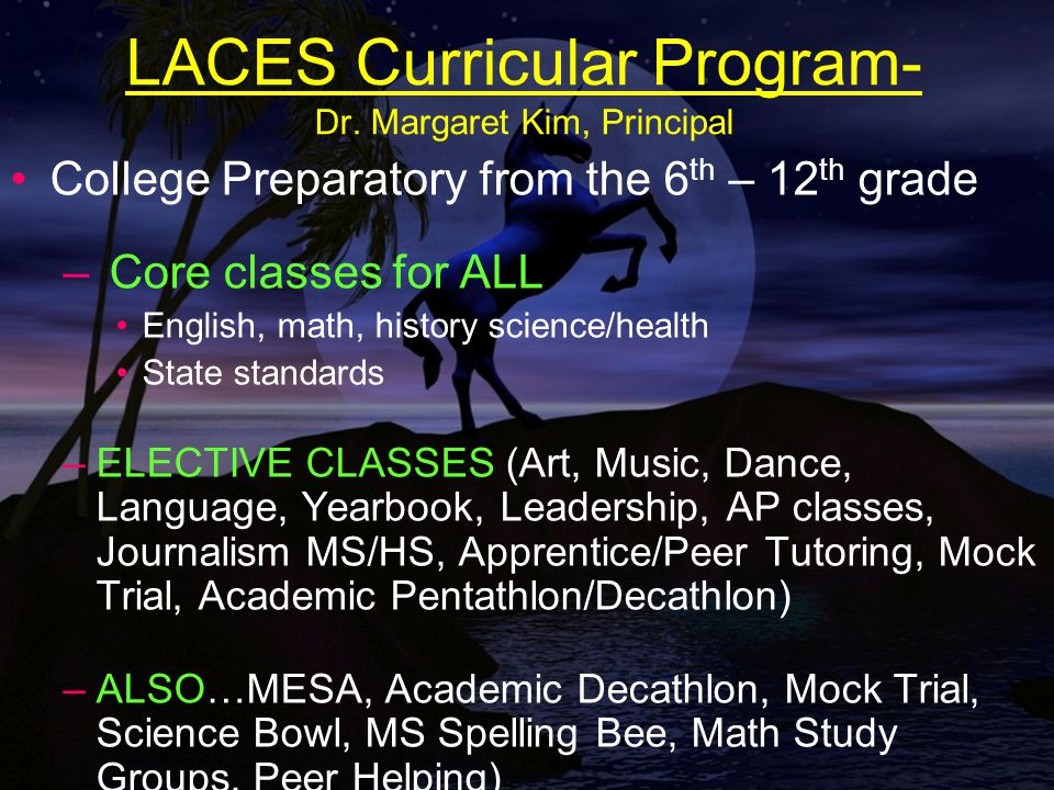 LACES Curricular Program- Dr.