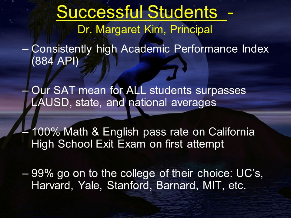Successful Students - Dr.