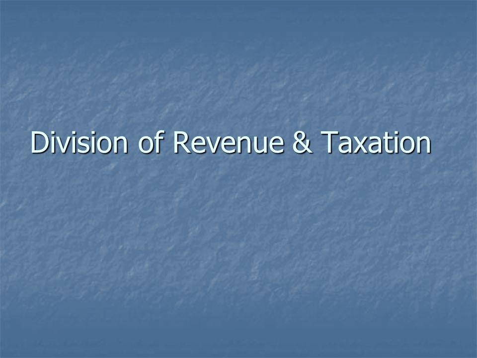 Division of Revenue & Taxation