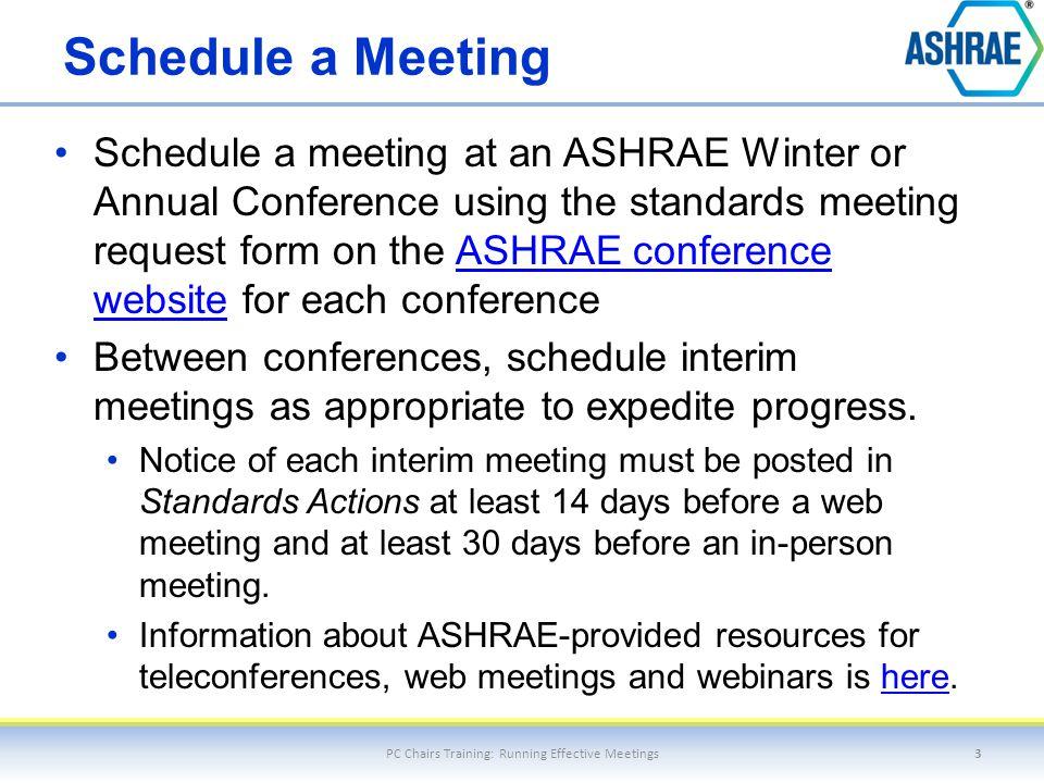Prepare an Agenda PC Chairs Training: Running Effective Meetings4