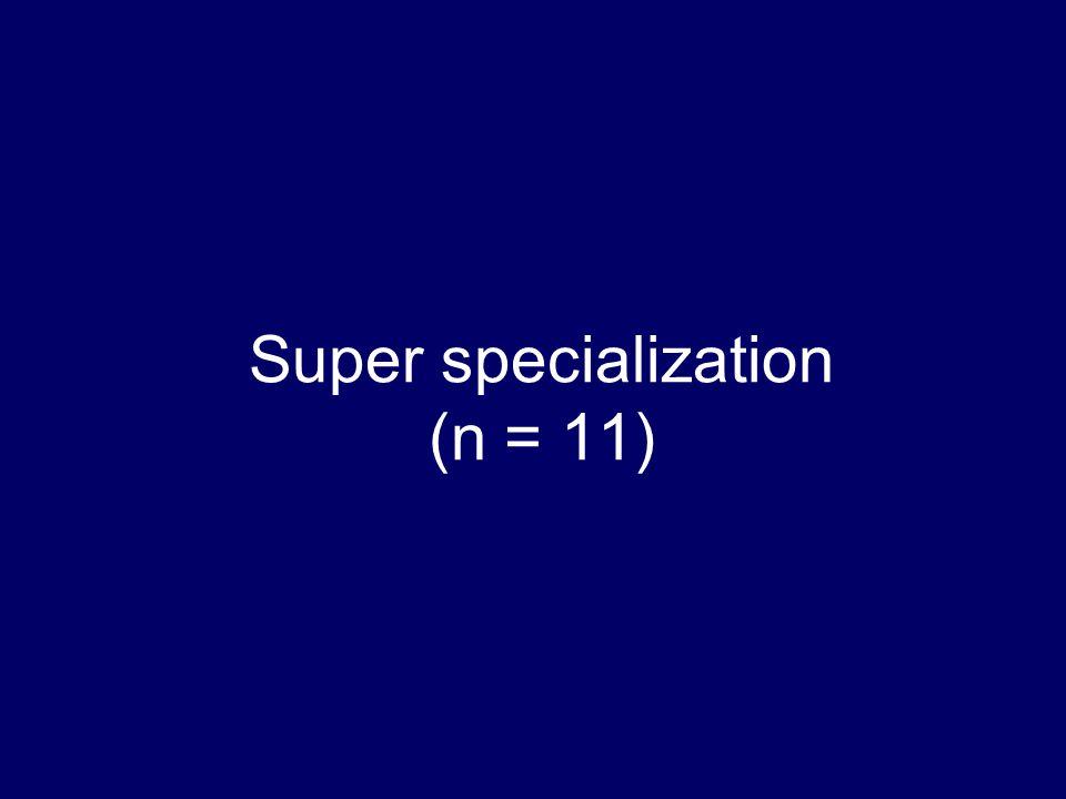 Super specialization (n = 11)