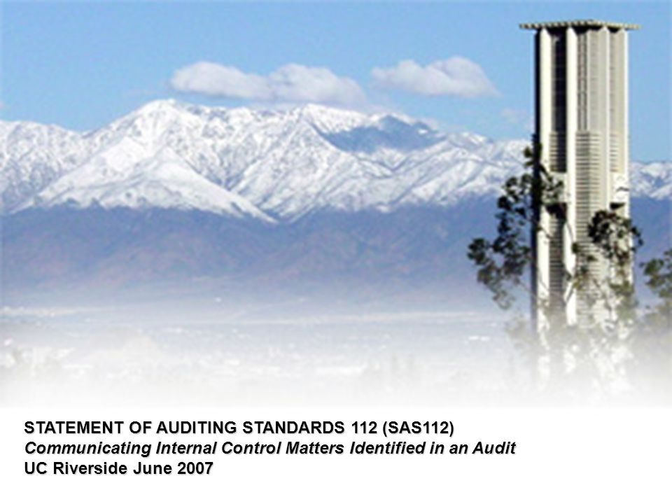 Today s audit environment encourages transparency and accountability.
