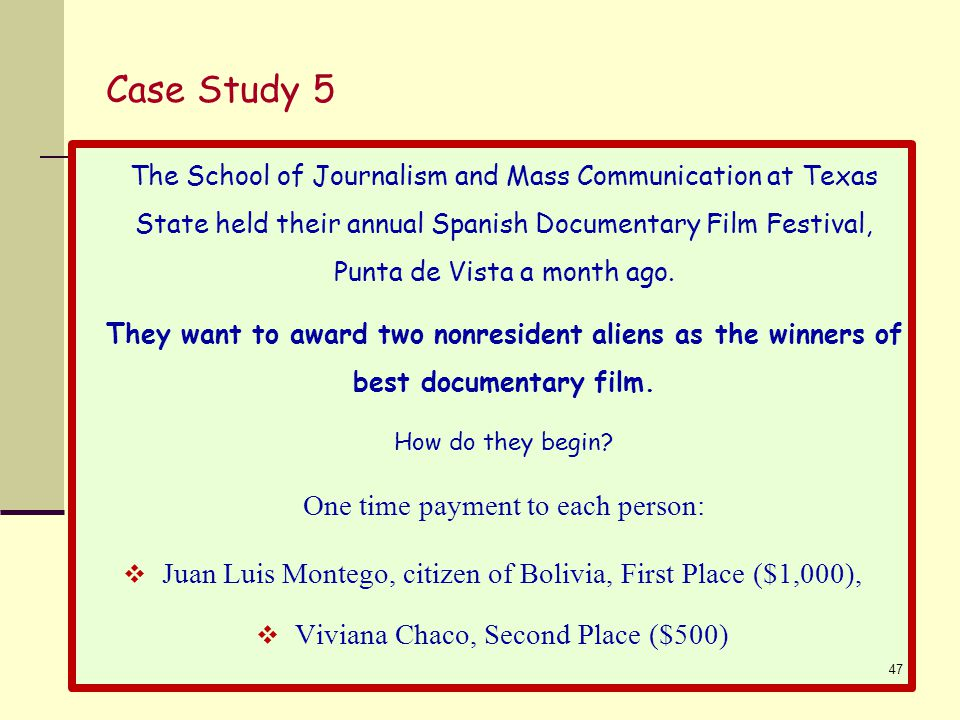 Case Study 5 The School of Journalism and Mass Communication at Texas State held their annual Spanish Documentary Film Festival, Punta de Vista a month ago.