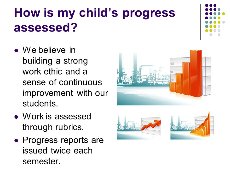 How is my child's progress assessed.