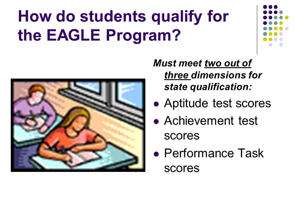 How do students qualify for the EAGLE Program.