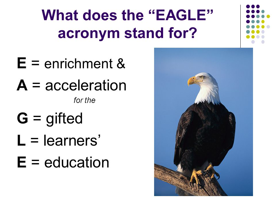 What does the EAGLE acronym stand for.