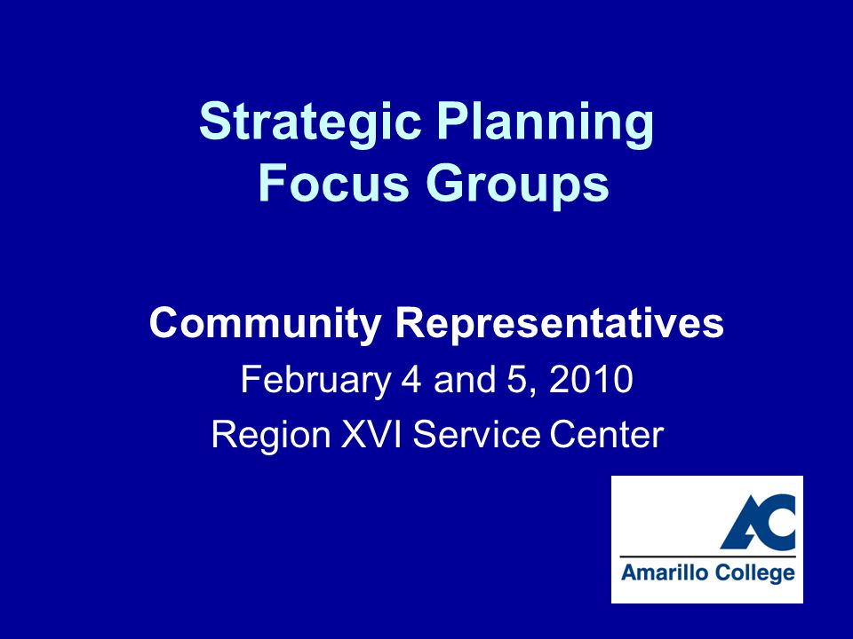 Questions Thank you for assisting Amarillo College with determining its future directions.