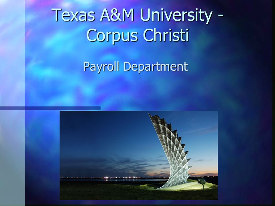 Texas A&M University - Corpus Christi Payroll Department