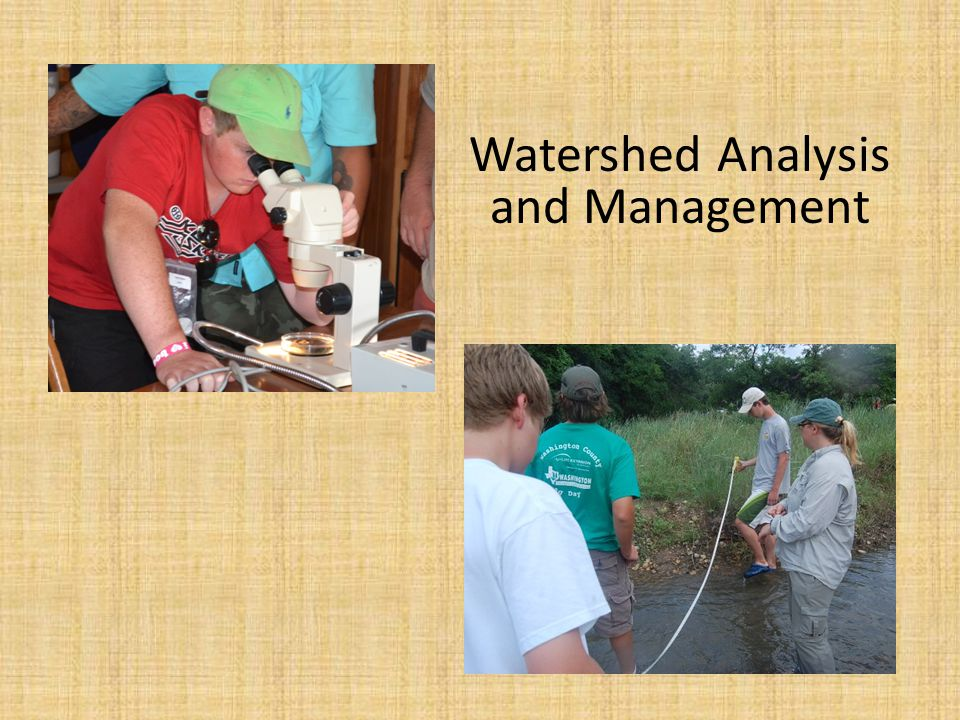 Watershed Analysis and Management