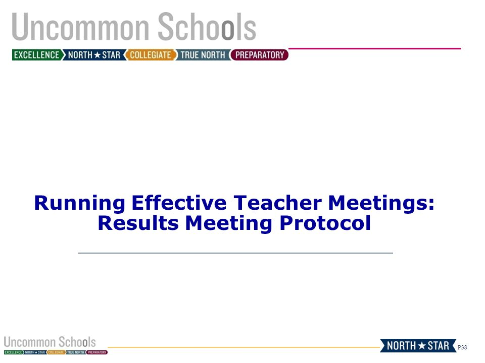 P38 Running Effective Teacher Meetings: Results Meeting Protocol