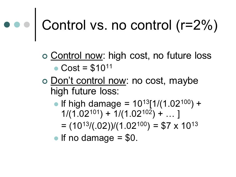 Control vs.