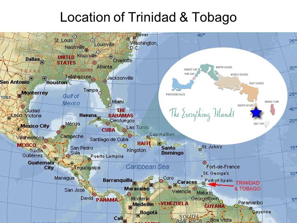 Location of Trinidad & Tobago