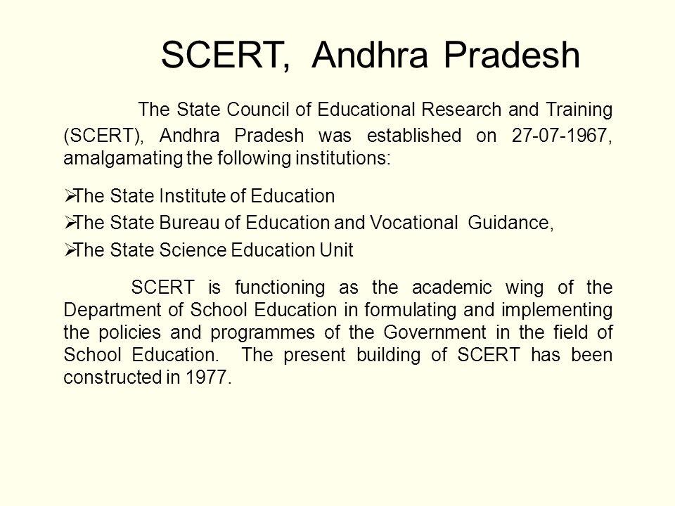 Academic and Non-academic posts in SCERT, AP No.