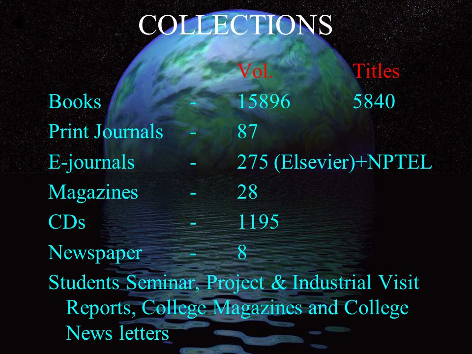 LAST YEAR PLAN e-journals Subscription Collection Development ISO New Dept.