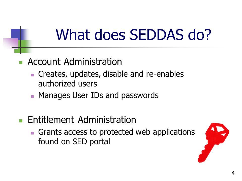 4 What does SEDDAS do.