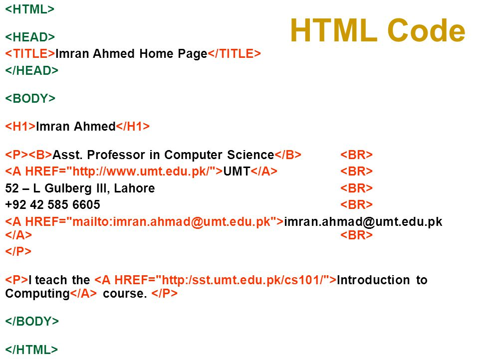 Useful URL's HTML for the Conceptually Challenged http://www.arachnoid.com/lutusp/html_tutor.html NCSA's Beginner s Guide to HTML http://archive.ncsa.uiuc.edu/General/Internet/WWW/HTMLPrimerAll.html