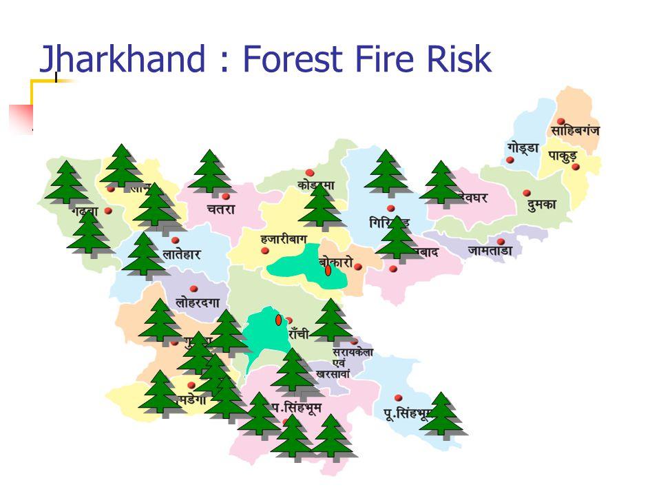 Jharkhand : Forest Fire Risk