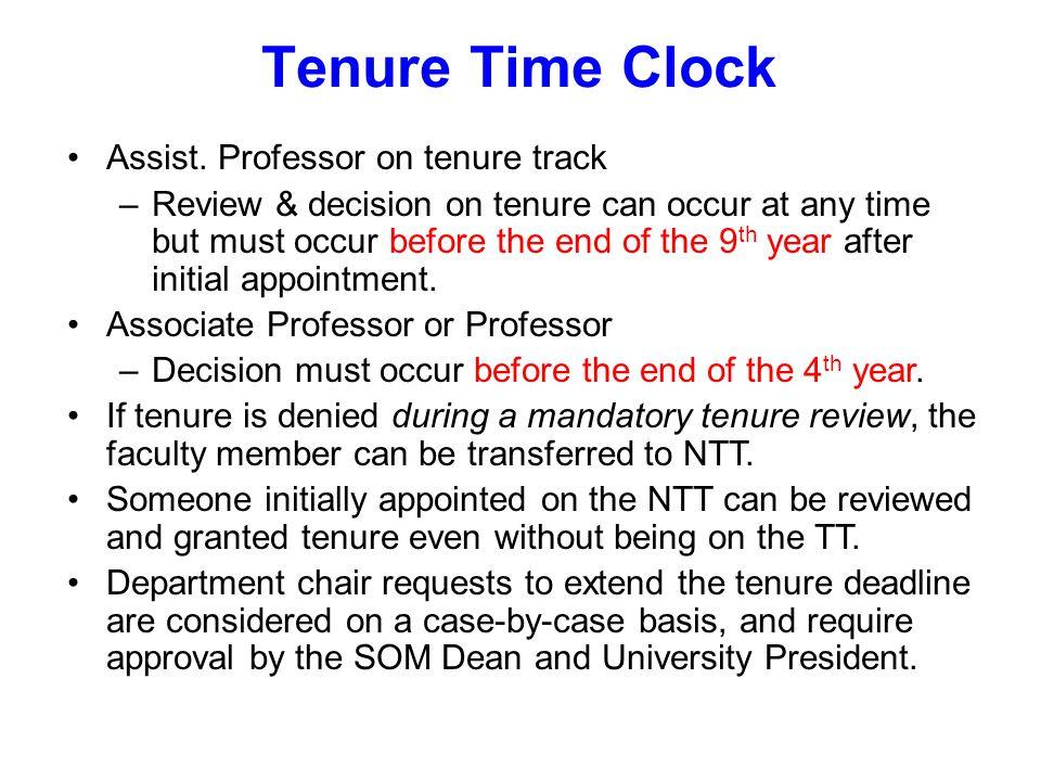Tenure Time Clock Assist.