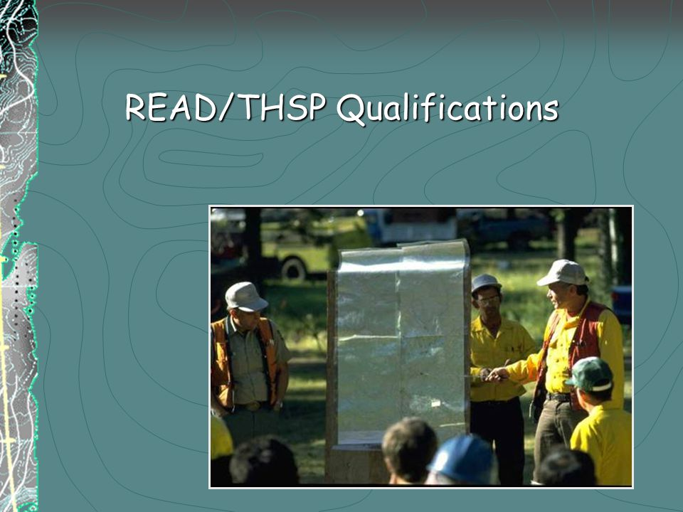 READ/THSP Qualifications